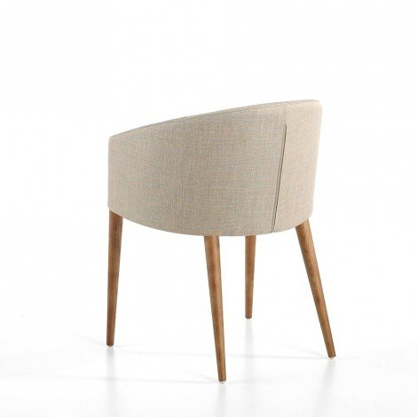 Cadice armchair made with solid walnut