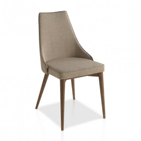 cerda sunny chair in solid walnut and fabric
