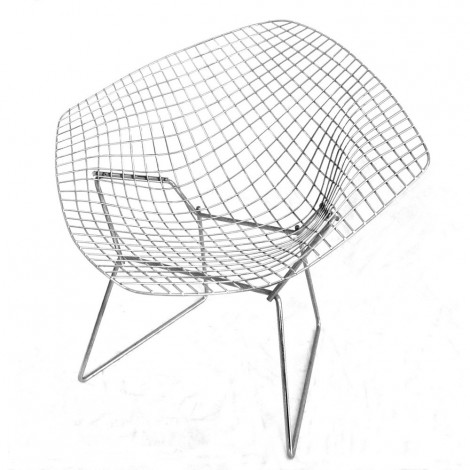 Poltrona Diamond di Harry Bertoia con cuscino in pelle o tessuto