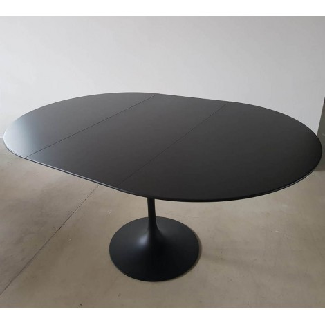 Table tulipe ronde extensible 100, 107,