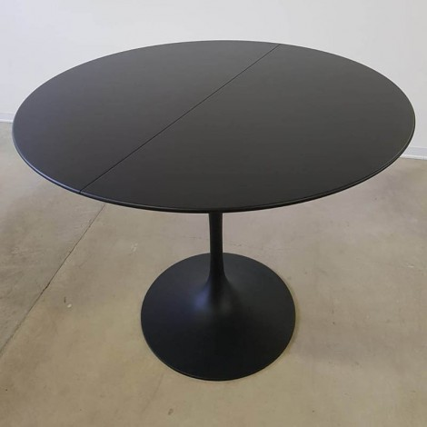 Extendable Round Tulip Table 100, 107,