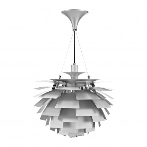 Reproduction of Artichoke suspension by Poulsen with aluminum structure and E 27 lamp