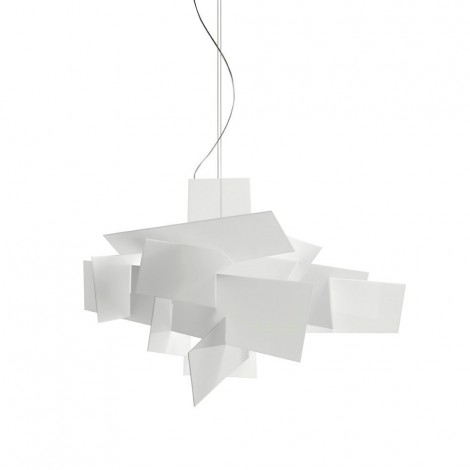 Reproduction of the Big Bang chandelier with aluminum structure and Plexiglas details