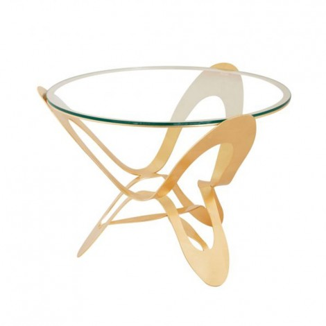 Ninfa coffee table of Arti e Mestieri gold leaf
