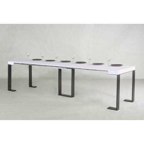itamoby synthesis white elongated console