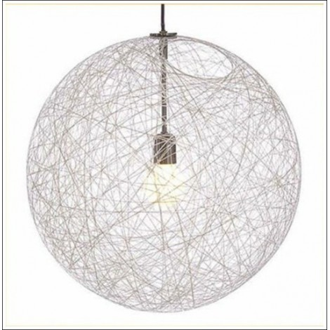 Rope suspension with E27 lamp very suitable for rustic environments. Available in 3 colors and 4 sizes