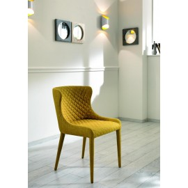 Aphrodite metal chair fully upholstered