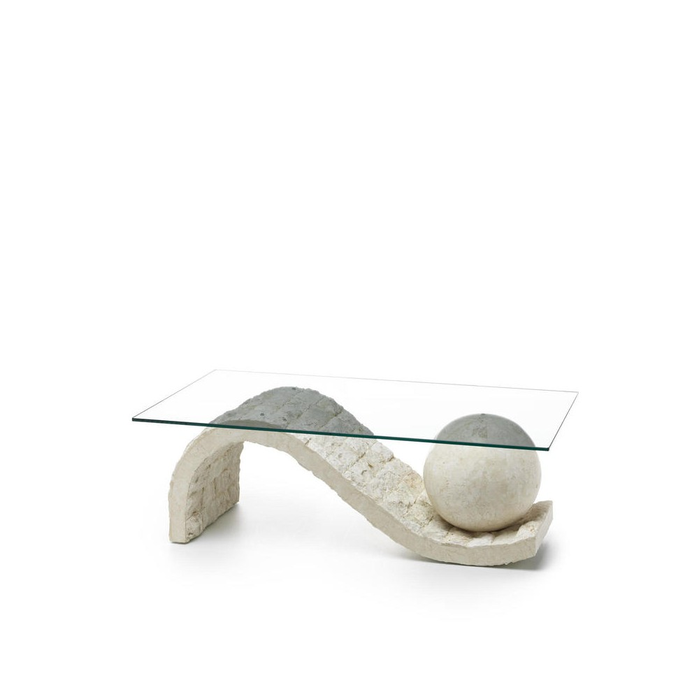 stones onda cut-out living room table