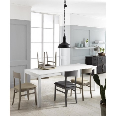table extensible traffic stones blanc