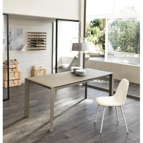 stones pixel taupe elongated table