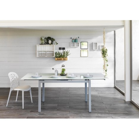 stones baud white living room table