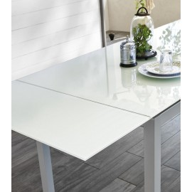 stones baud particular white table