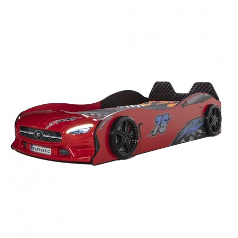 car bed in mdf star eco red