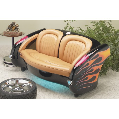 A car becomes a sofa with the famous Corvette from the 1950s