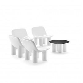 Atene Armchair by Plust design white color