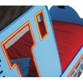 Trenino Thomas cot in mdf with fabric roof and drawers under footboard