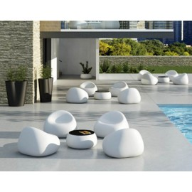 plust gumball armchair outdoor armchair by the pool