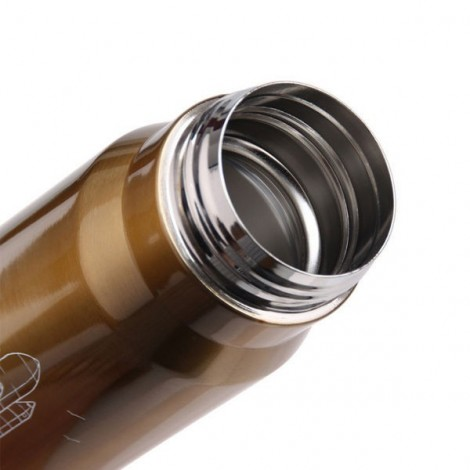 Bullet-shaped thermos suitable for food and very well made.