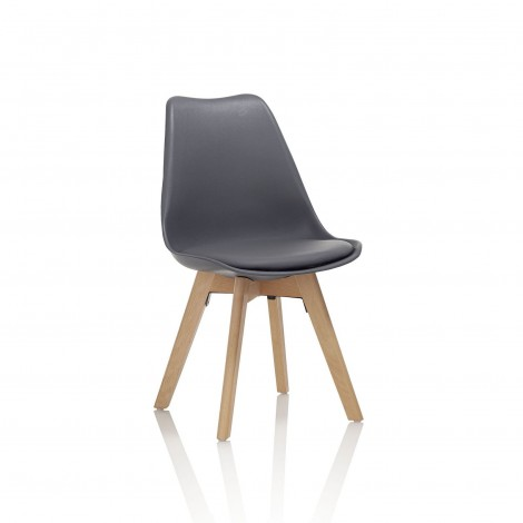 silla gris country kasa-store