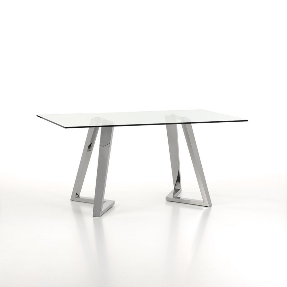 Origami fixed table with transparent