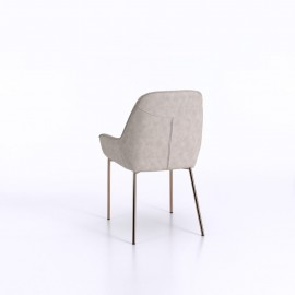 Mery chair with structure in rose gold