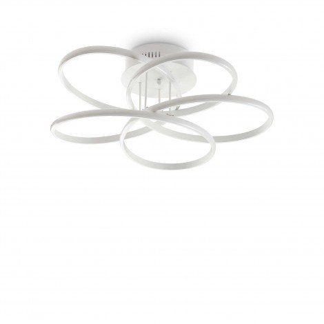 Karol ceiling lamp by Idel lux in metal and plastic diffuser with LED lights