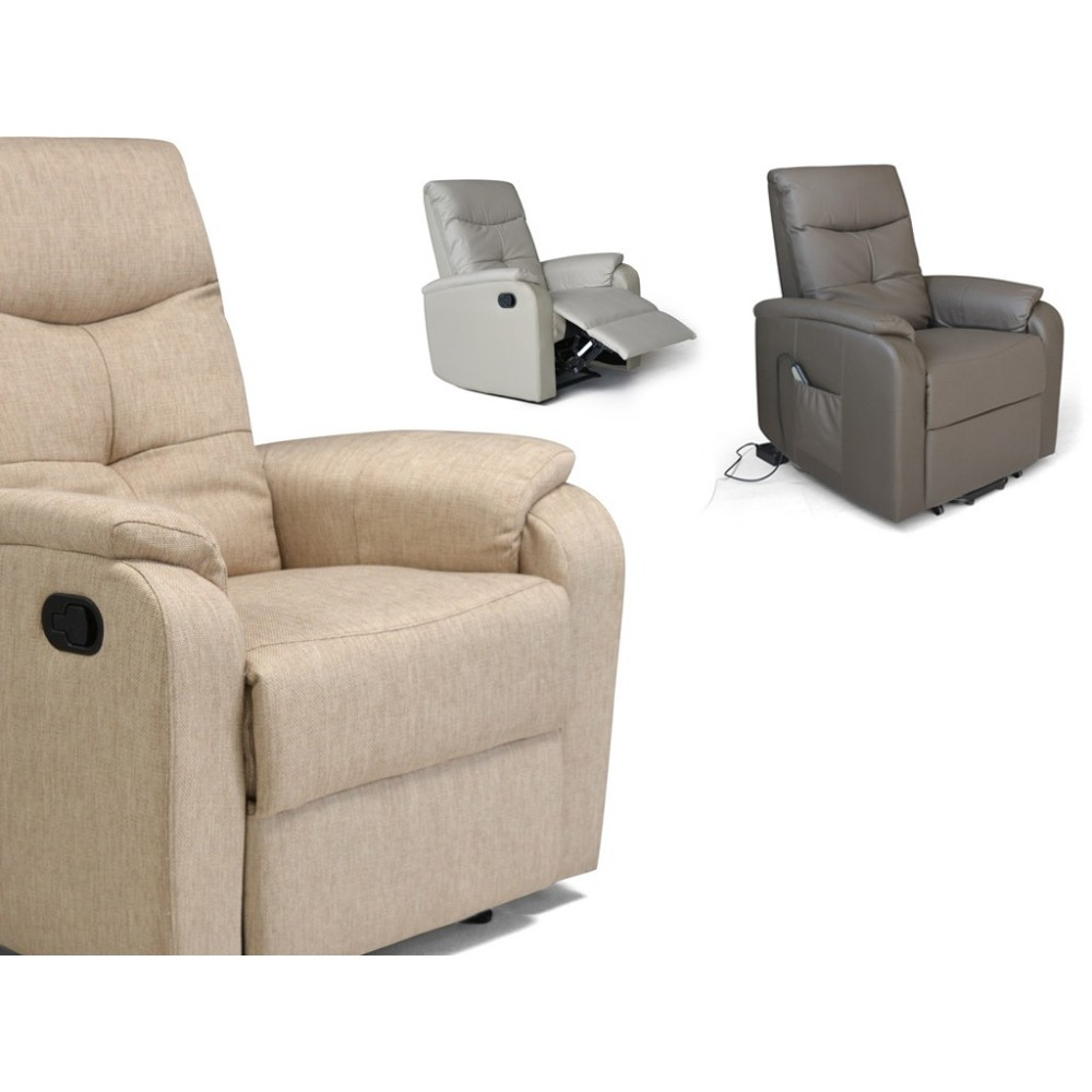 Etos relax armchair available with manual or electric mechanism in several finishes