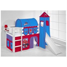 Spiderman raised bed with slide or without. INCLUDING SLATS AND MATTRESS
