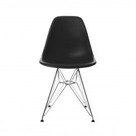Charles Eames chair without armrests in various finishes suitable for living rooms and hotels