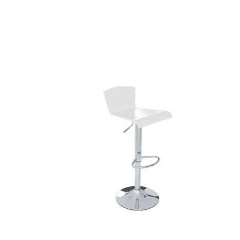 Titty stool with chromed A91 steel structure with gas lift and methacrylic seat available in three colors