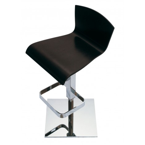Simba stool with A91 steel structure and gas lift, its seat is in methacrylate in three different colors