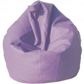 Large pouf bean bag armchair in eco-leather with fully removable polyethyrene spheres