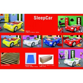 Abs-shaped car bed including bed base and mattress