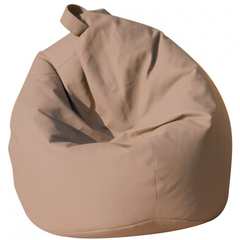 Maxi Large bean bag pouf 12 different colors in eco-leather with completely removable polyethyrene spheres