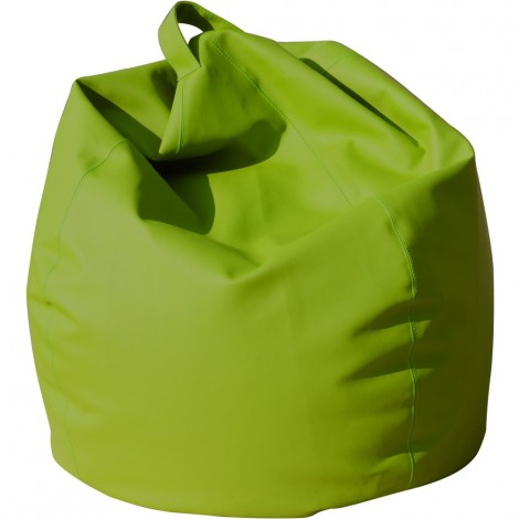 Maxi armchair pouf large 12 different colors in eco-leather with fully removable polyethyrene spheres