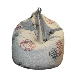 Ottoman sack armchair in 80% cotton and 20% polyester with internal polystyrene spheres. Completely removable