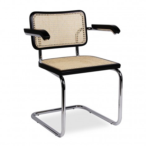Marcel Bruer's  Cesca Chair with frame in steel and Vienna cane re-edition