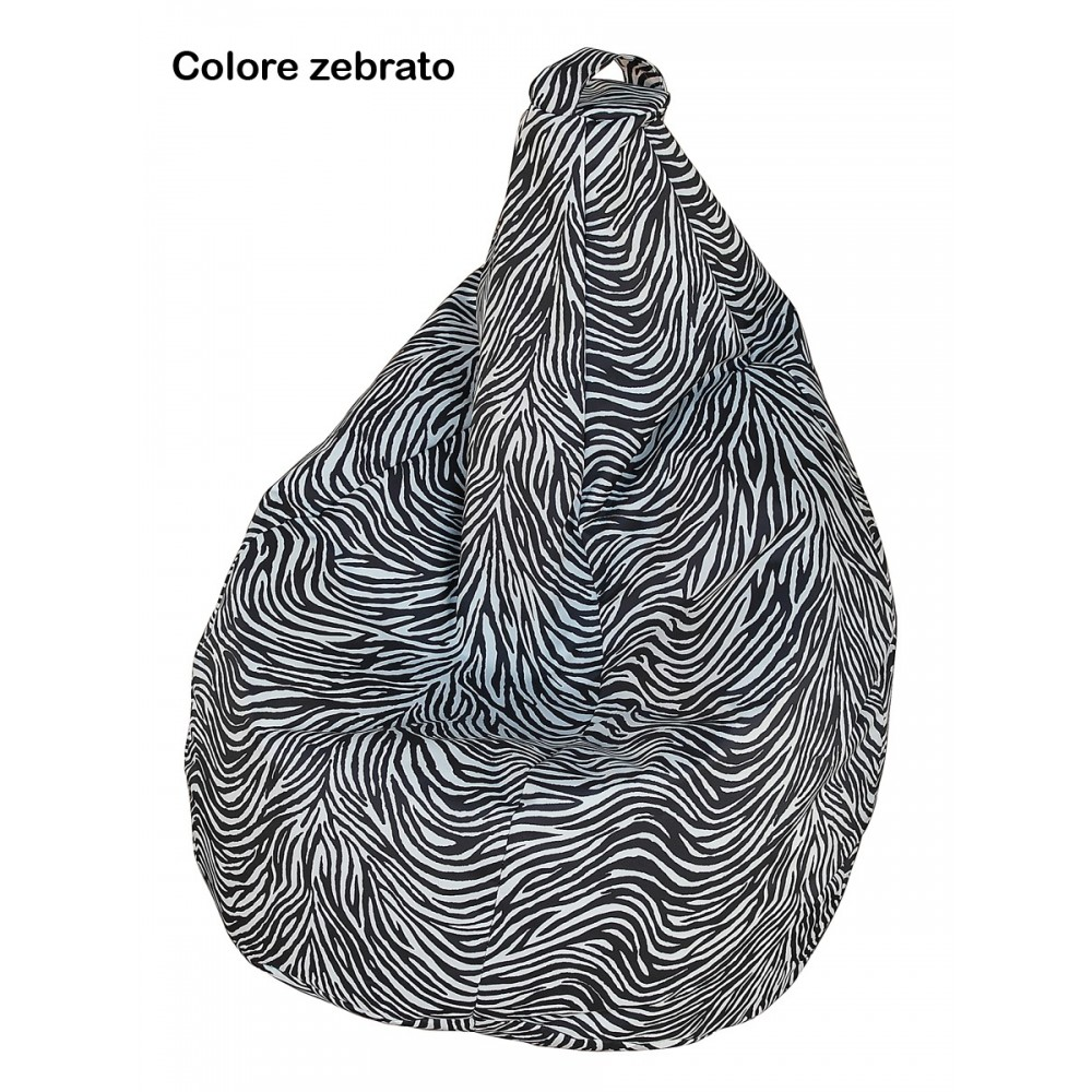 Armchair pouf bags in 100% polyester with polyethylene spheres.