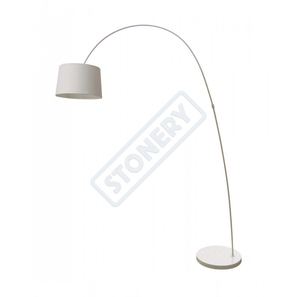 Floor arc lamp Costanza in metal painted black or telescopic white ...