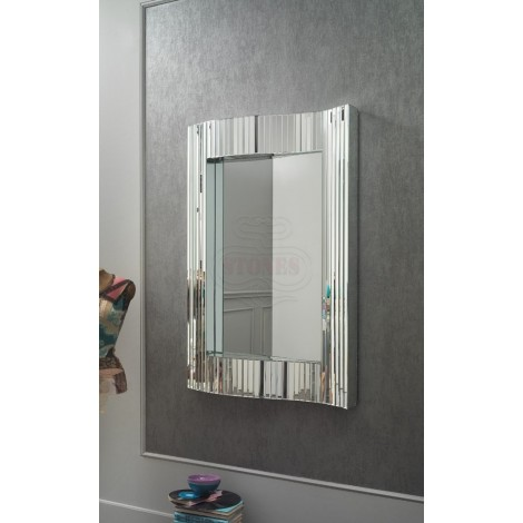 Stones mirror 16 with wavy structure suitable for modern and luxury environments