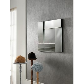 18 Stones mirror with mirrored and scaled frame to give movement to your furnishings