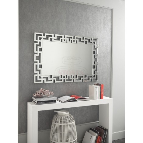 20 Stones mirror with ribbed frame made with small mirrors. Suitable for entrances, hotels and restaurants