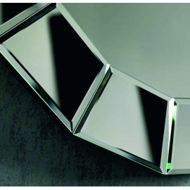 19 Stones mirror with frame of segments of round wall mirror. Suitable for bathrooms or bedrooms