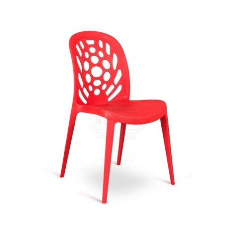 Holes chair of the Stones line in polypropylene available in many finishes. Suitable for waiting rooms and homes