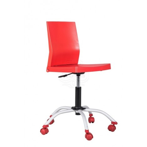 Twitter chair of the Stones line with castors with adjustable height and pvc structure in various colors