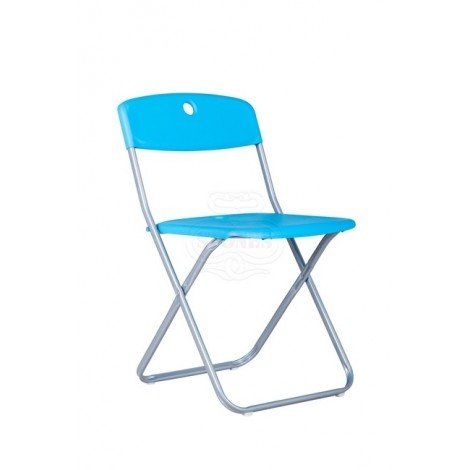 Kyra folding metal chair with seat and back in pvc
