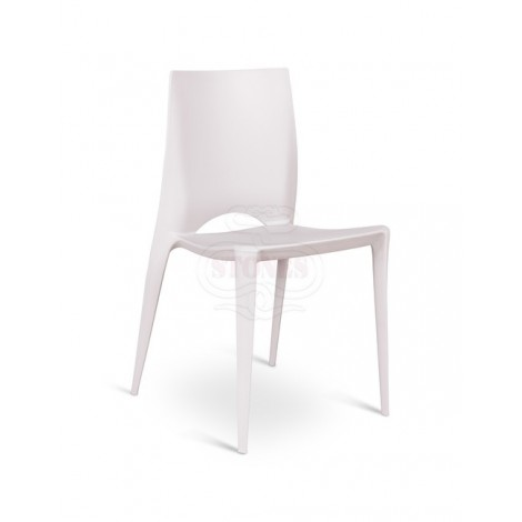 Denise chair in polypropylene suitable for indoor and outdoor very comfortable and in various colors