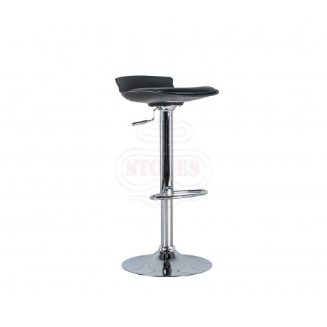 Alan, Stool in metal with seat in pvc covered in leatherette with piston system to adjust the height