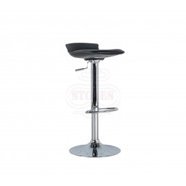 Alan metal stool with pvc seat covered with imitation leather equipped with piston system to adjust the height