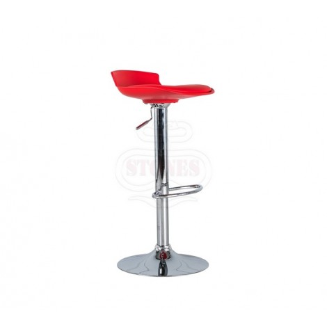 Alan stool in metal with pvc seat covered in imitation leather equipped with a piston system to adjust the height